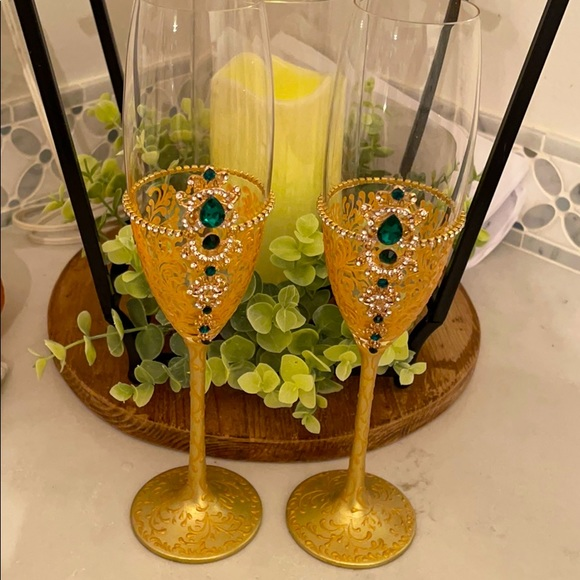 Pottery Barn Champagne Glass Pair